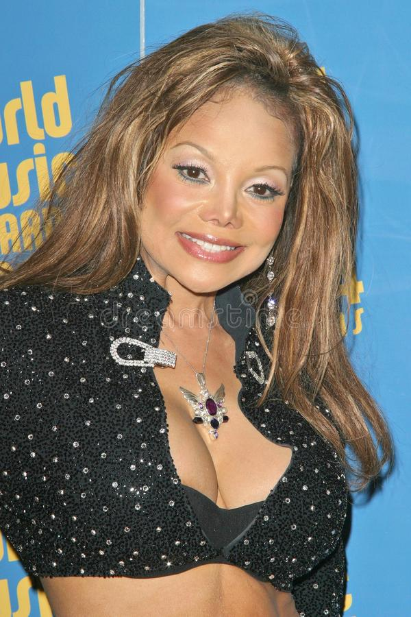 LaToya Jackson. At the 2004 World Music Awards in the Thomas Mack Arena at UNLV, Las Vegas, NV. 09-15-04 stock photography