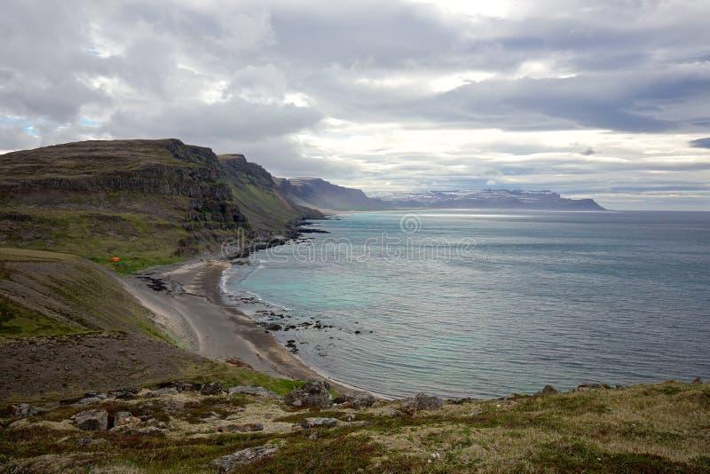 Latrabjarg south coast royalty free stock photo