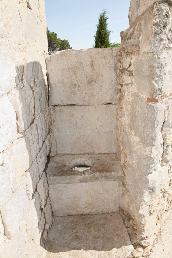 Latrina medievale - Girona - Spagna fotografia stock libera da diritti