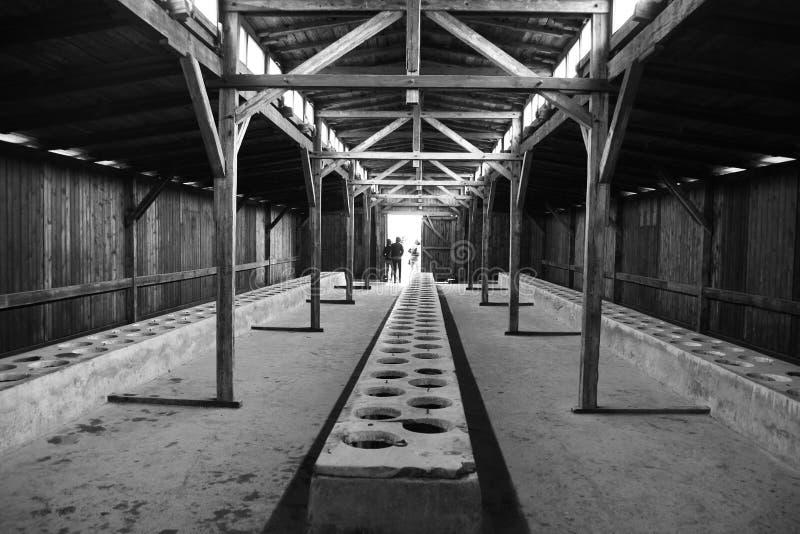Latrine di Birkenau fotografia stock libera da diritti