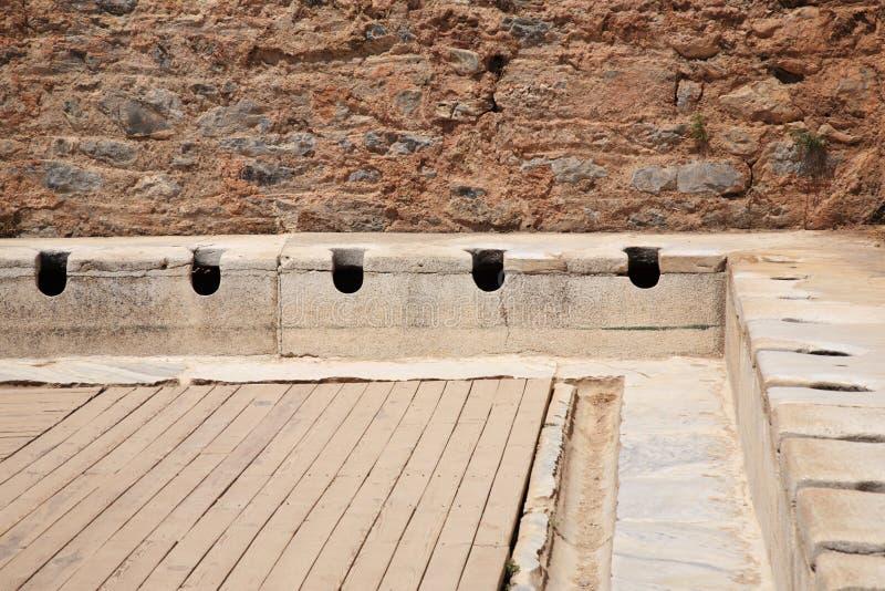 Latrine a Ephesus fotografia stock