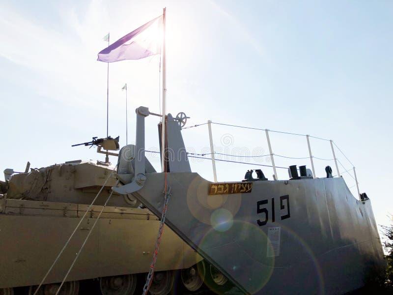 LATRUN, ISRAËL 13 MARS 2018 : Site commémoratif et le musée blindé de corps dans Latrun, Israël images stock