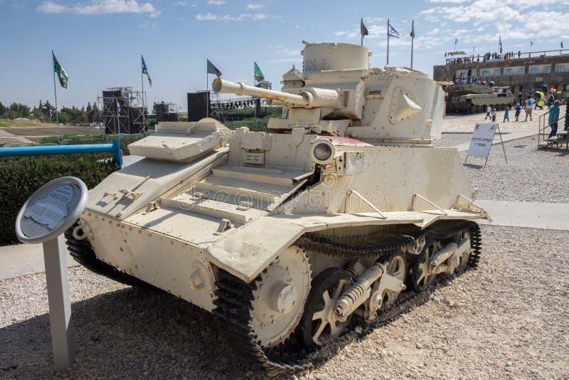 Light Tank Vickers Mk VI at Latrun Armored Corps Museum. LATRUN, ISRAEL - MAY 02, 2017: Light Tank Vickers Mk VI at Latrun Armored Corps Museum stock photo