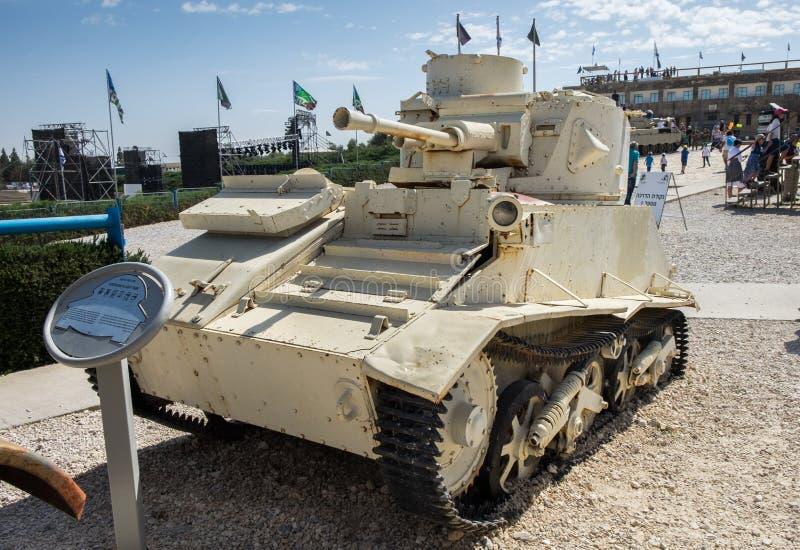Light Tank Vickers Mk VI at Latrun Armored Corps Museum. LATRUN, ISRAEL - MAY 02, 2017: Light Tank Vickers Mk VI at Latrun Armored Corps Museum stock images