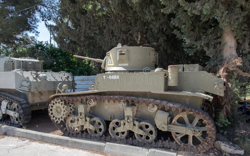 Vintage Armour Ardeer Tank at Latrun Armored Corps Museum royalty free stock images
