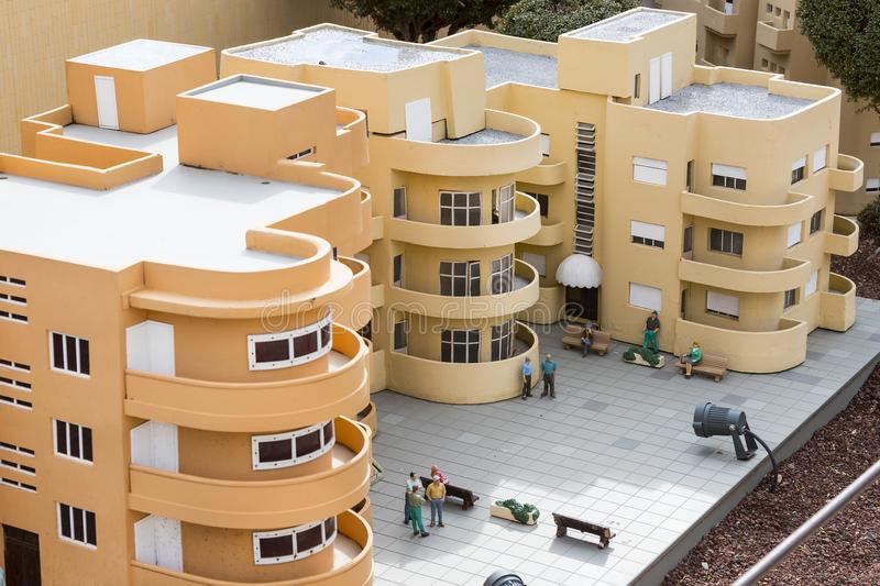 Museum of miniature architectural landmarks of Israel in the open air. LATRUN, ISRAEL - 23 NOVEMBER 2017: Museum of miniature architectural landmarks of Israel stock photo