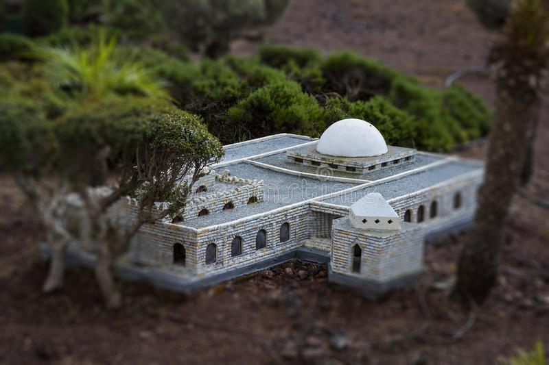 Museum of miniature architectural landmarks of Israel in the open air. LATRUN, ISRAEL - 23 NOVEMBER 2017: Museum of miniature architectural landmarks of Israel royalty free stock photography