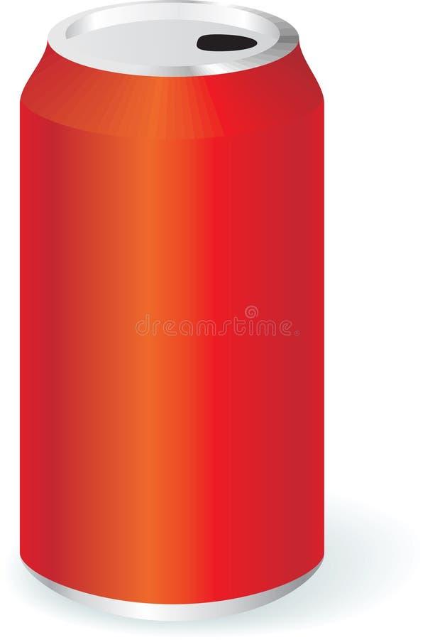 Latta in bianco del metallo illustrazione di stock