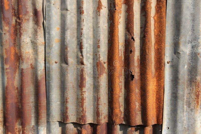 Latta d'acciaio ondulata fotografie stock libere da diritti