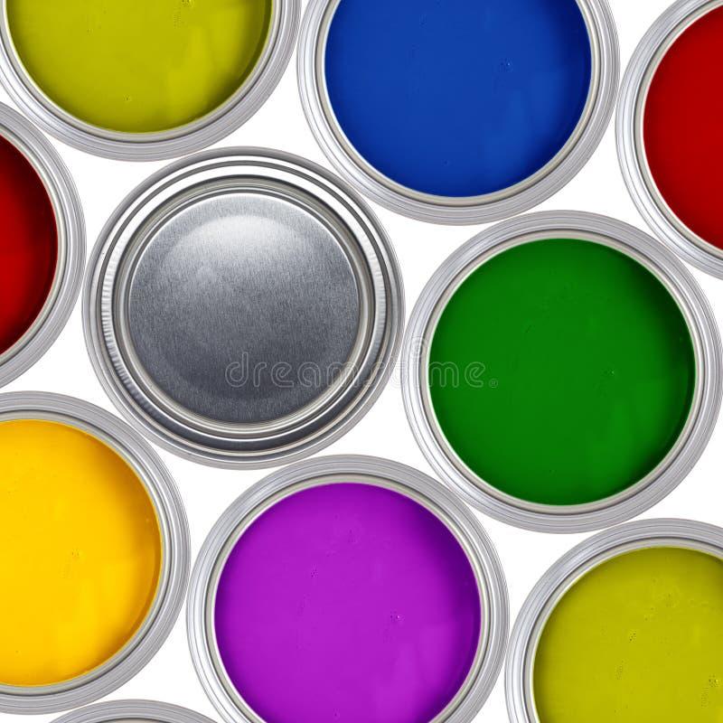 Latta della vernice fotografie stock libere da diritti