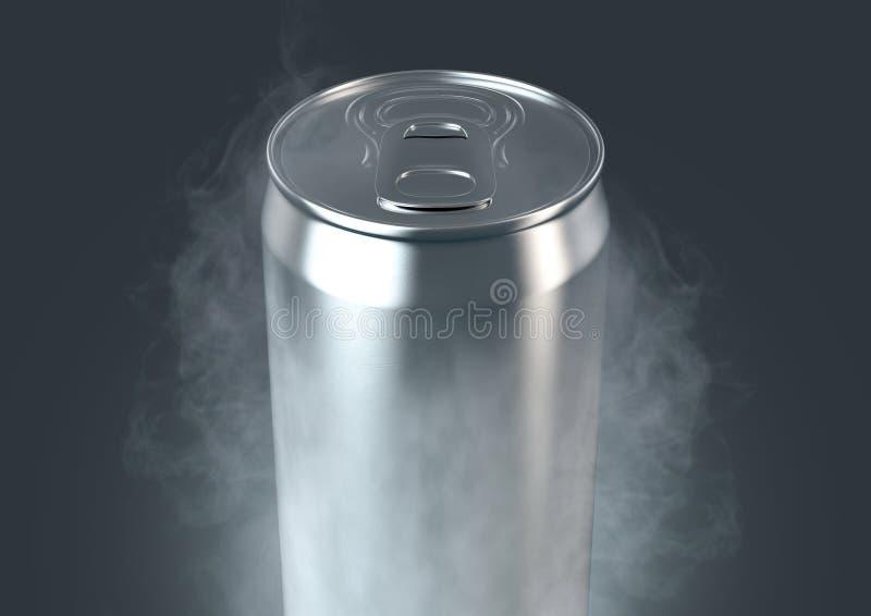 Latta di alluminio congelata illustrazione vettoriale