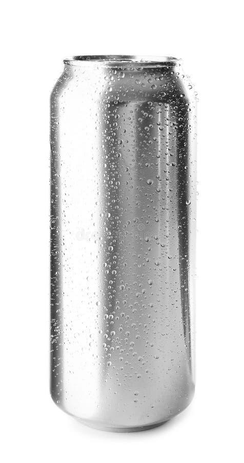 Latta di alluminio su fondo immagine stock libera da diritti