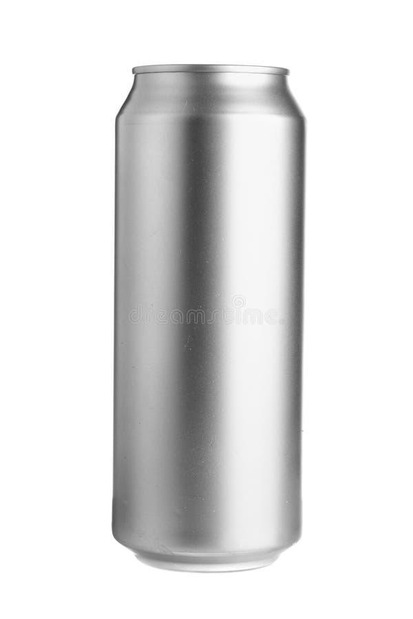 Latta di birra di alluminio fotografie stock libere da diritti