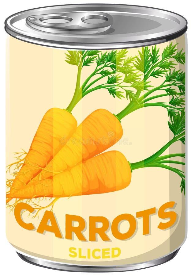 Latta di A delle carote affettate royalty illustrazione gratis