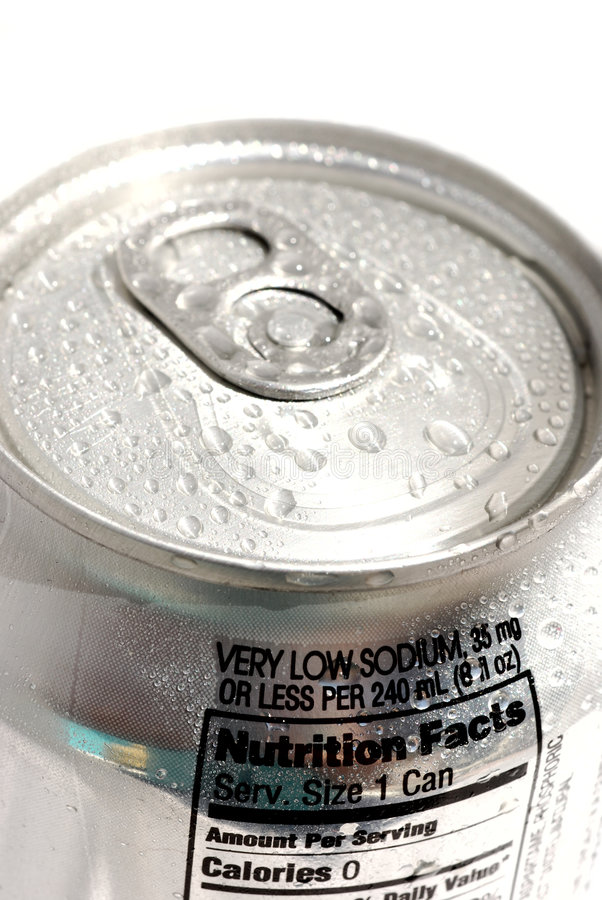 Latta di soda fotografie stock libere da diritti