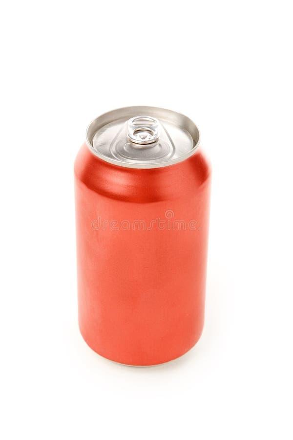 Latta di soda in bianco fotografia stock libera da diritti