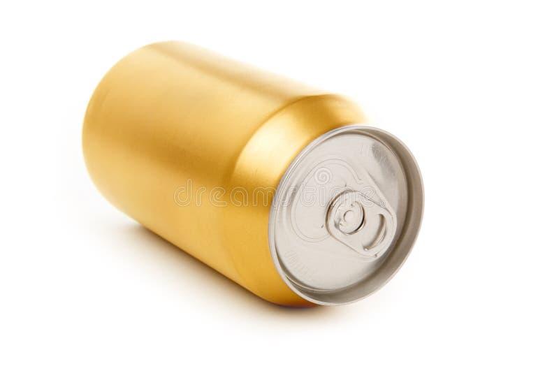 Latta di soda in bianco fotografia stock