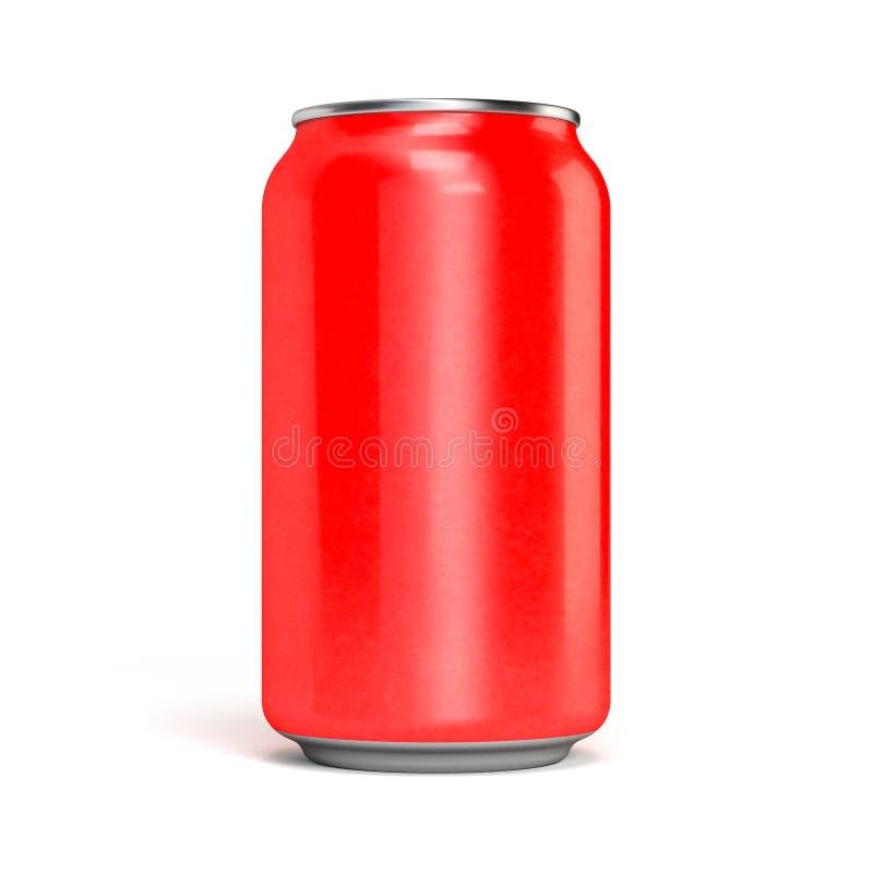 Latta di soda rossa fotografia stock