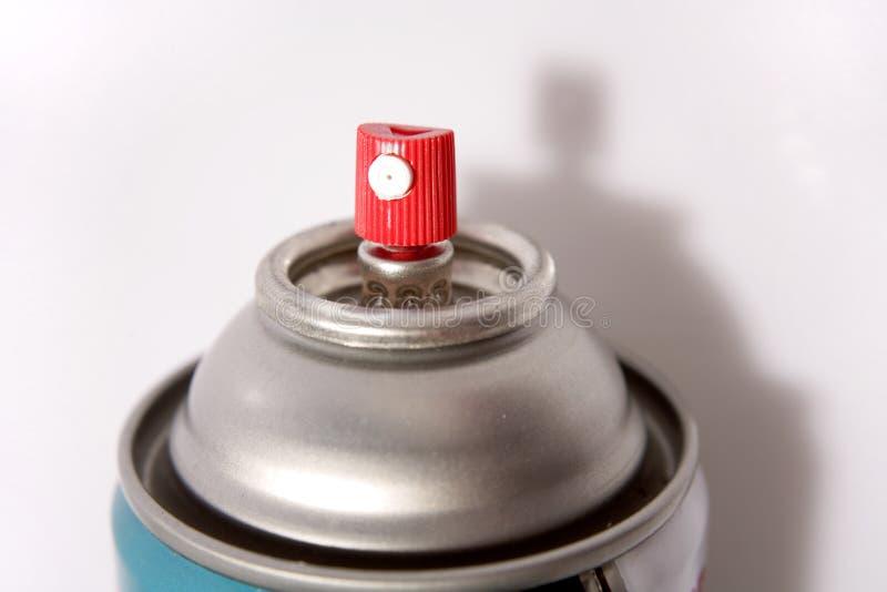 Latta di spruzzo dell'aerosol immagine stock libera da diritti