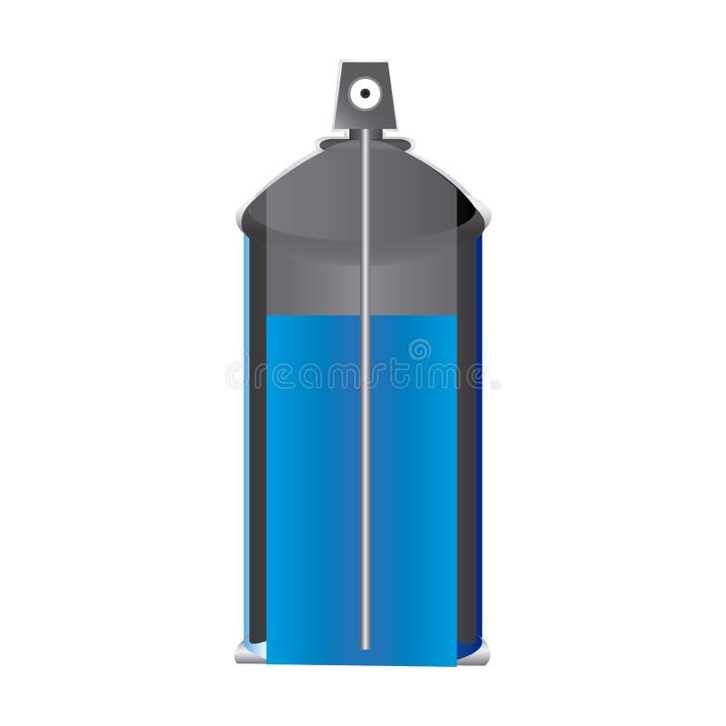 latta interna della bottiglia dello spruzzo di aerosol di vista illustrazione di stock