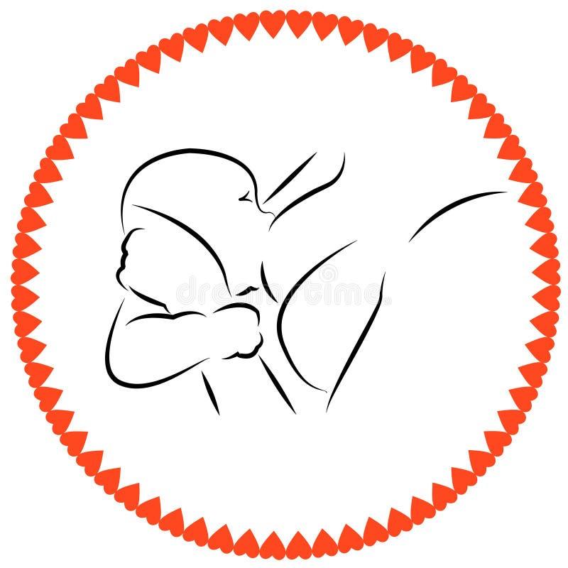 lattazione Allattamento al seno della madre illustrazione vettoriale