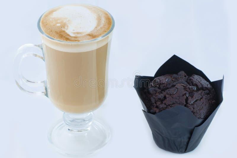 Latte булочки и кафа стоковые фотографии rf