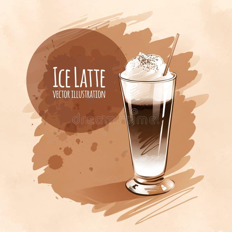 latte ilustración del vector