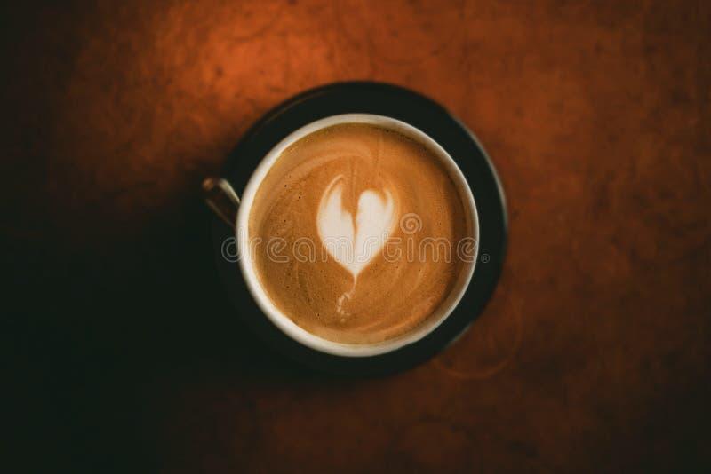 Latte с пеной сердца