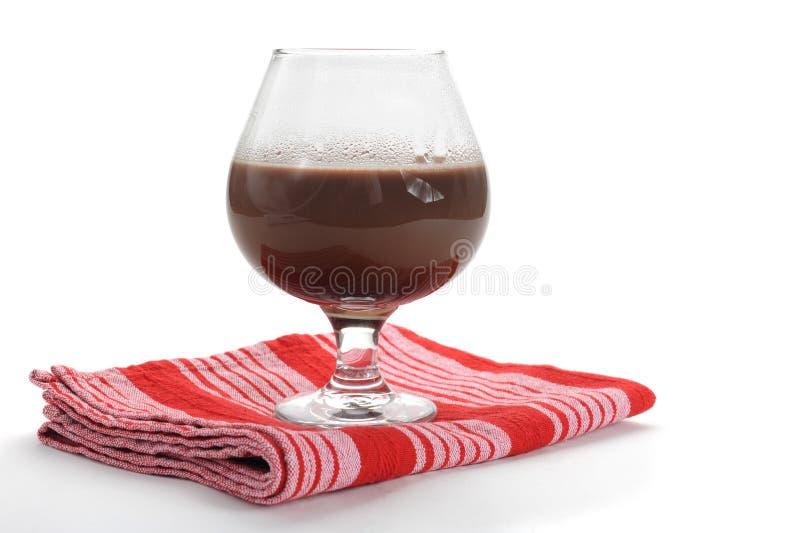 Latte al cioccolato fotografia stock libera da diritti