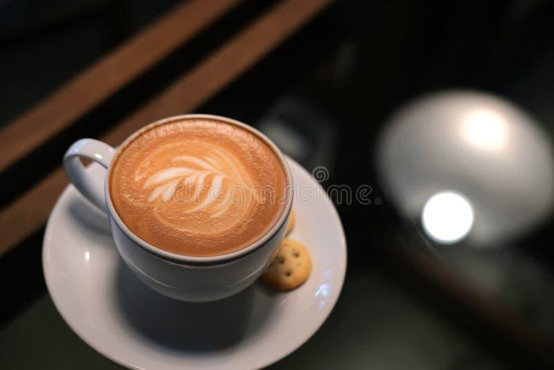 Latte Art Coffee photo stock