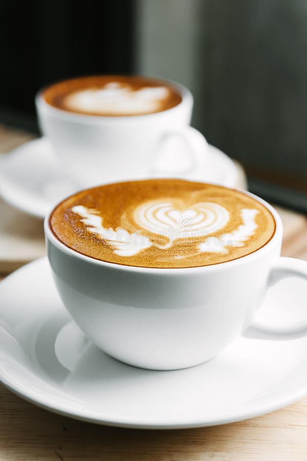 Latte Art Coffee imagem de stock royalty free
