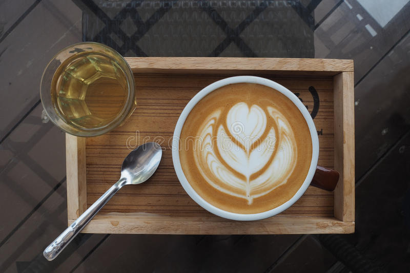 Latte Art Coffee fotos de archivo