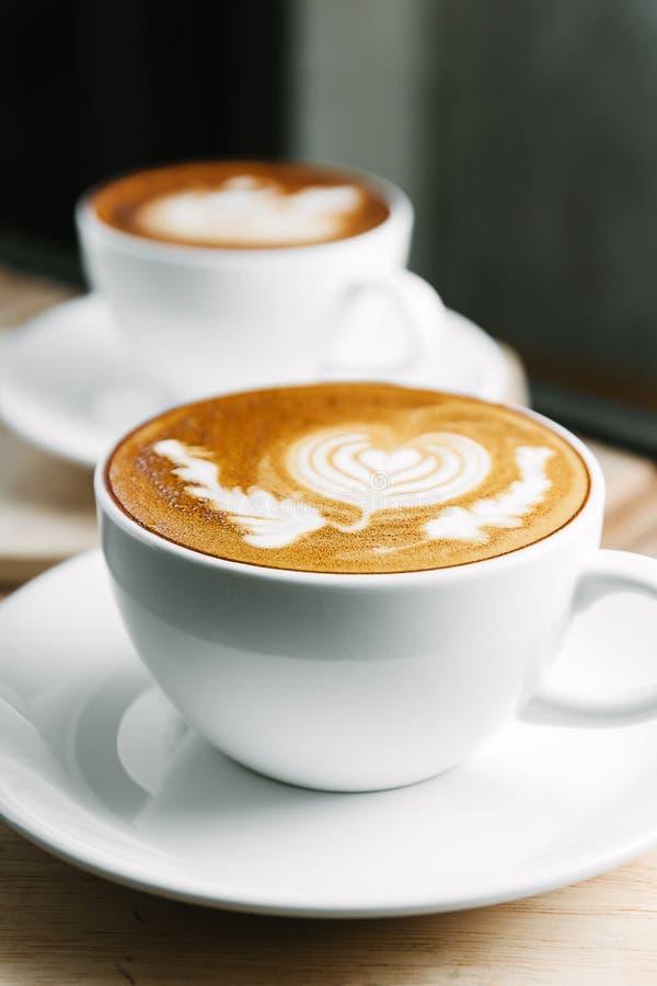 Latte art coffee royalty free stock image