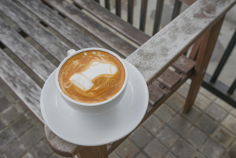 Latte Art Coffee Santa Sock imagens de stock royalty free