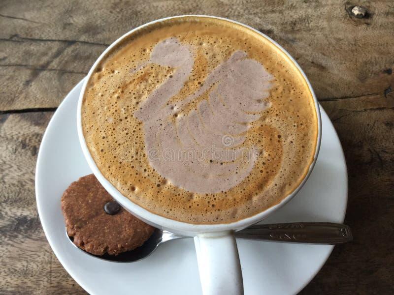 Latte Art. Swan coffee. royalty free stock images