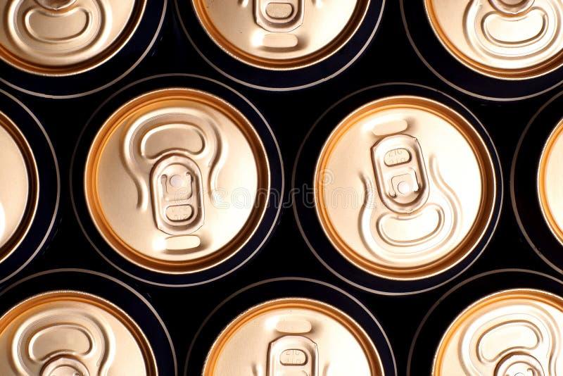 Latte birra/della soda fotografia stock libera da diritti