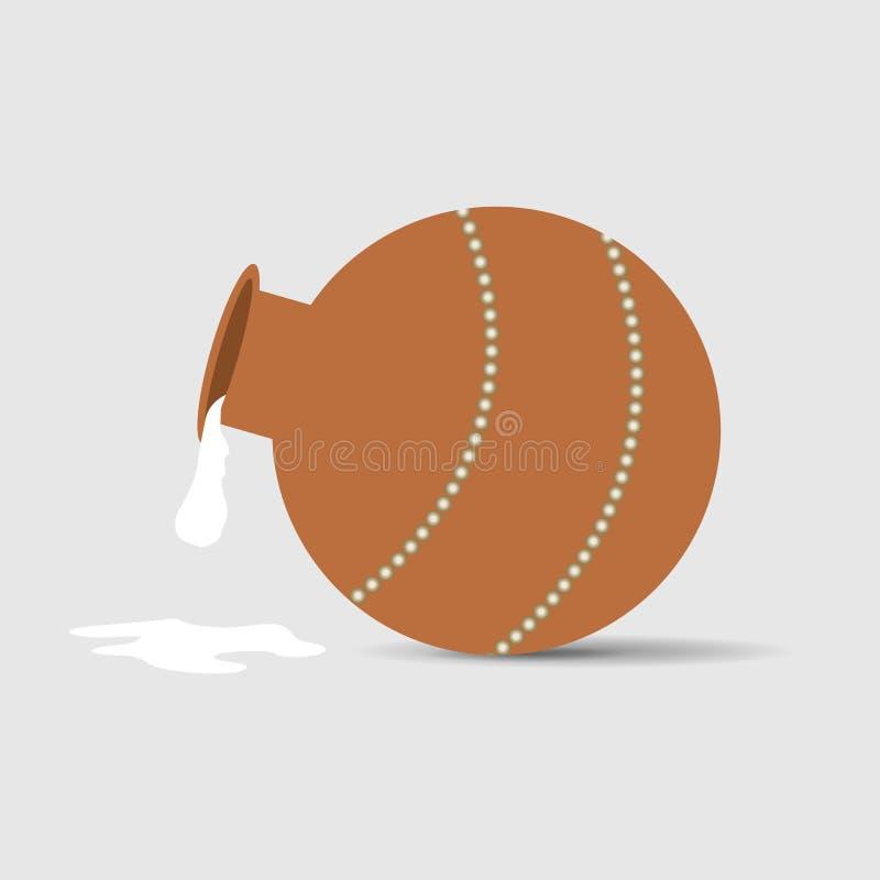 Latte che è versato da una brocca Spruzzata Illustrazione di vettore illustrazione di stock
