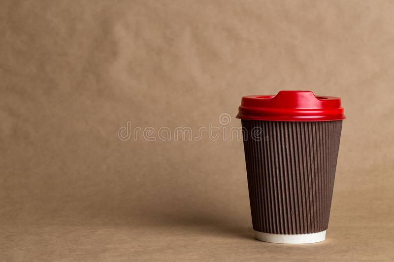 Latte coffee to go royalty free stock images