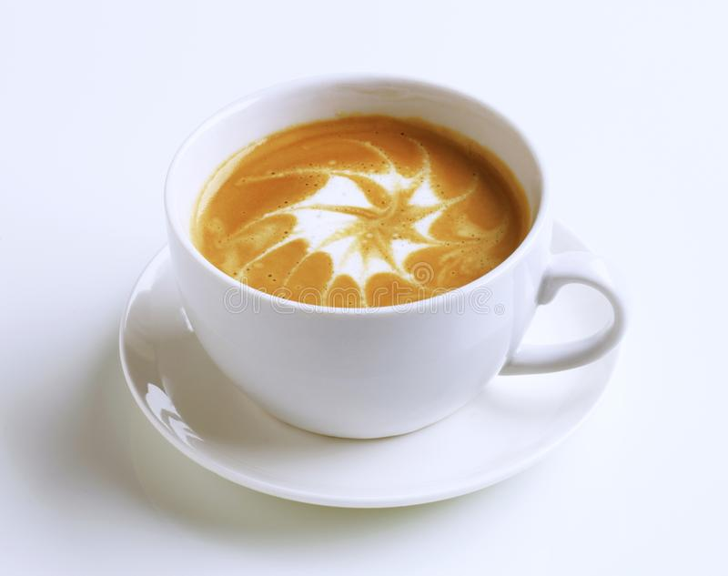 Latte com arte do froth imagem de stock royalty free