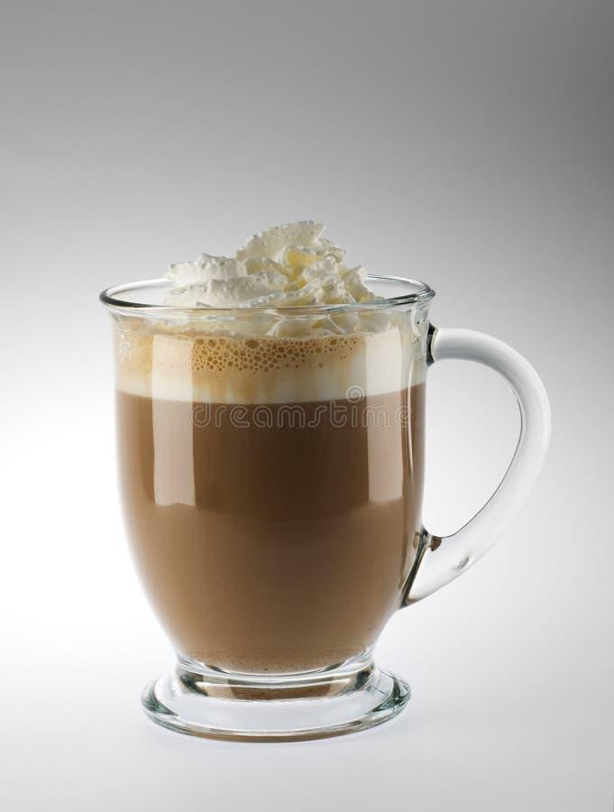 Latte com creme chicoteado fotografia de stock royalty free