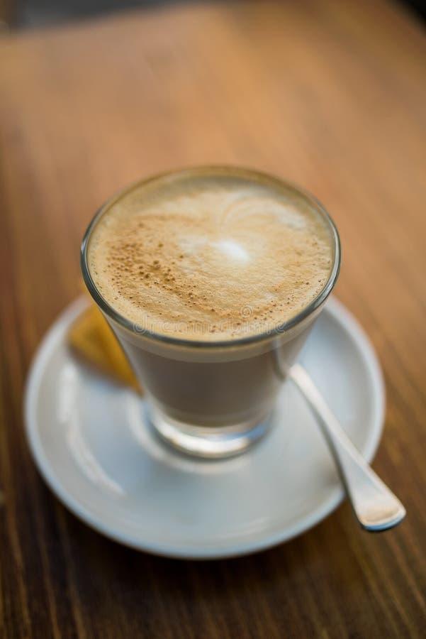 Latte cremoso del café del tiempo del café foto de archivo libre de regalías