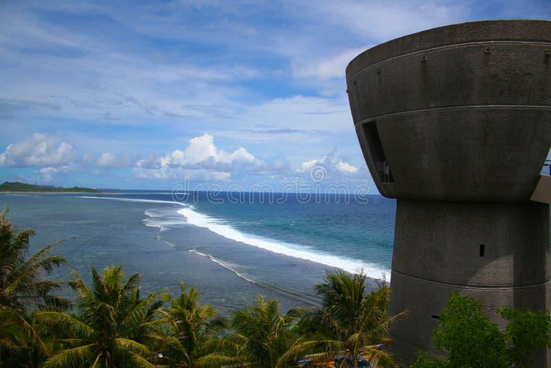 Latte da liberdade, Guam EUA fotografia de stock