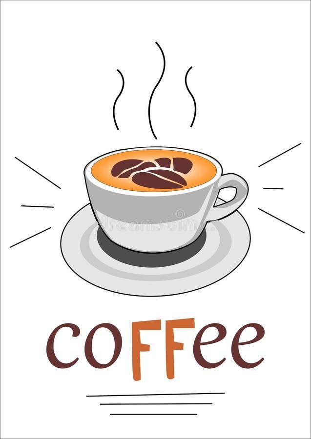 Latte da xícara de café do vetor fotos de stock royalty free