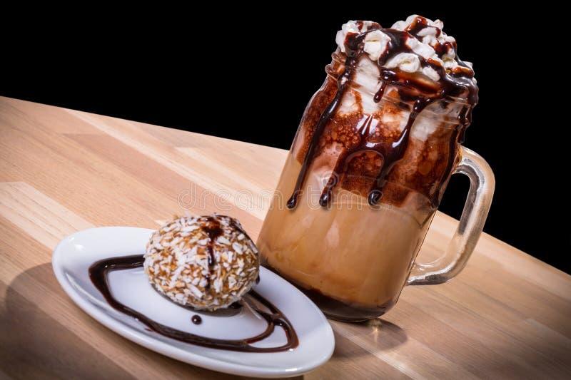 Latte de café de Choco photographie stock libre de droits