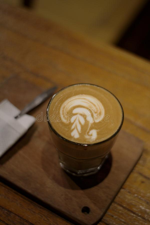 Latte de Coffe Cappucino foto de stock royalty free