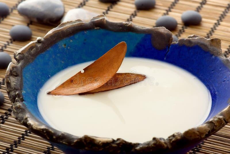 latte del bagno immagine stock