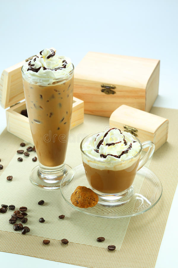 Latte del caffè fotografie stock libere da diritti