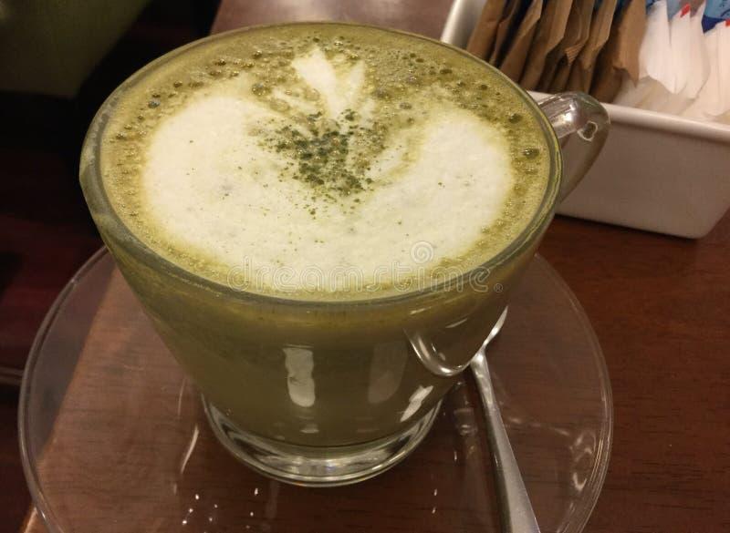 Latte del verde de Matcha foto de archivo libre de regalías