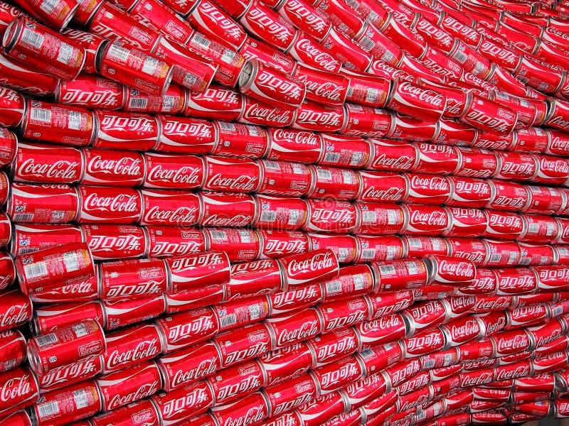 Latte della coca-cola fotografia stock libera da diritti