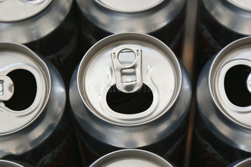Latte di birra vuote immagini stock libere da diritti